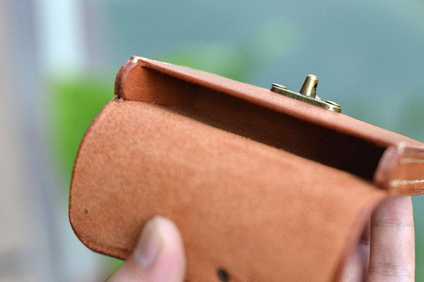Leather Business Card Holder With Cool Clasp Leather от CLWorkshop