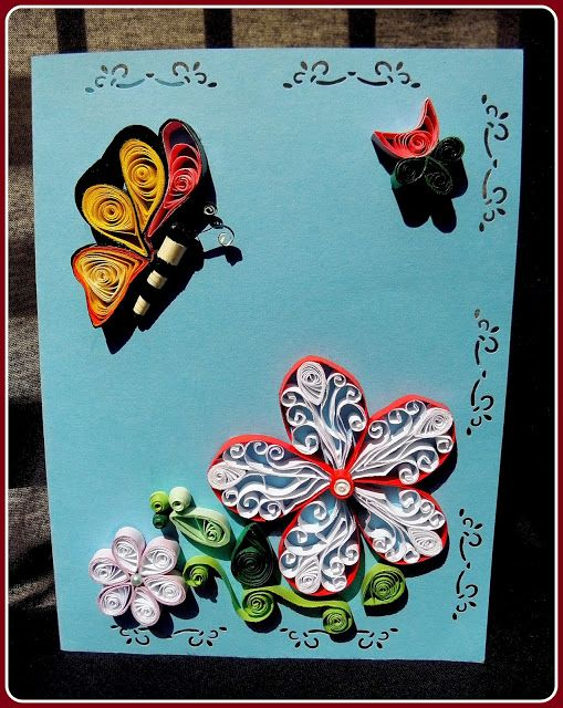 Felicitare floare & fluture