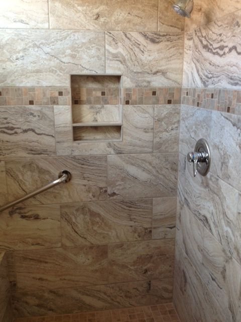 Emser Pergamo Tile That is one amazing shower install To