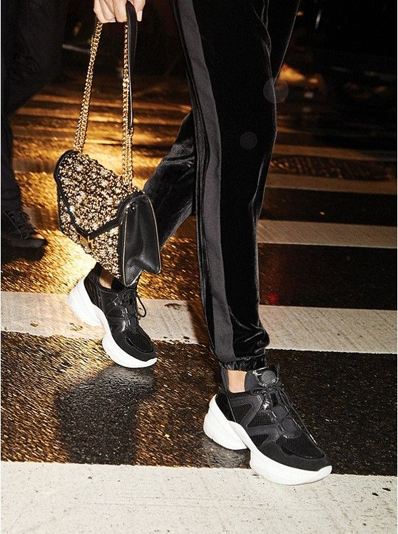 e2a7d619a35 25-60% SALE @ MICHAEL KORS! Including this Olympia Leather Mixed-Media  Trainer – Today's Fashion Item
