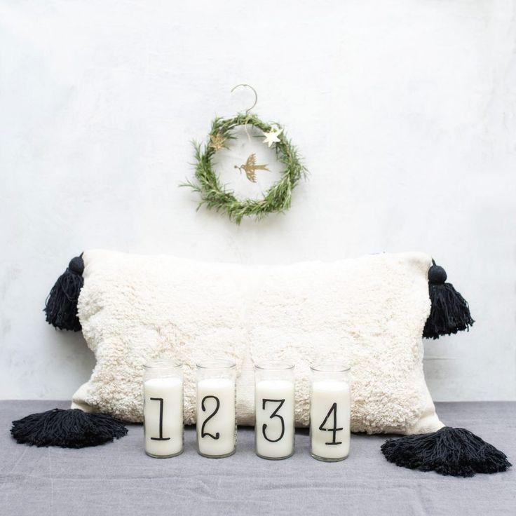 Adventskerzen Mit Zahlen Im Glas Adventskerzen Advent Kerzen