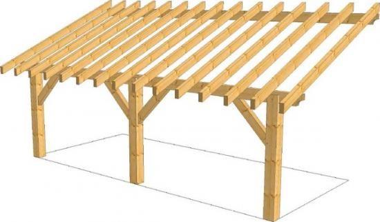 Dessin appenti bois overkapping pinterest appenti for Construire appenti bois
