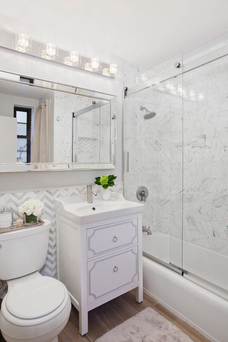 453 best master bathroom images on pinterest master bathrooms modern manhattan apartment bathroom makeover by decor aid