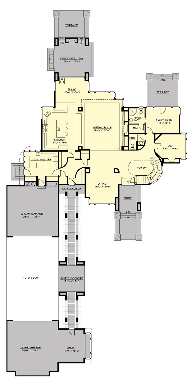 The Influence Of Modern Architect Frank Lloyd Wright Remains Prevalent In  Todayu0027s New House Plan Designs, Particularly Modern And Contemporary Floor  Plans.