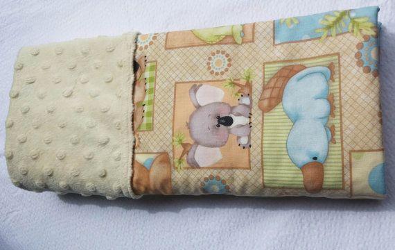 Baby Pram Stroller Bassinet Minky Blanket by morethanjustquilts