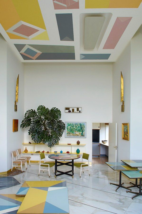 Gio Ponti's Villa Planchart, in Venezuela, is beloved for its unexpected palette | archdigest.com