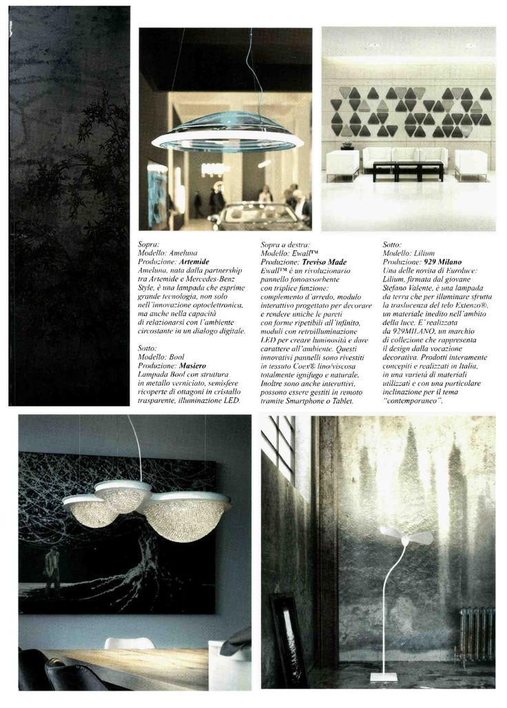 Lilium lamp by 929MILANO, Casa & Giardino magazine