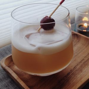 Wow your friends with this delicious sipper of ginger and whiskey with protein from egg white - easy to make: http://raftsyrups.com/amaretto-ginger-sour/