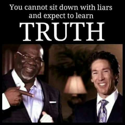 The Kingpin and the Joker: TD Jakes and Joel Olstein....organized crime underbosses.