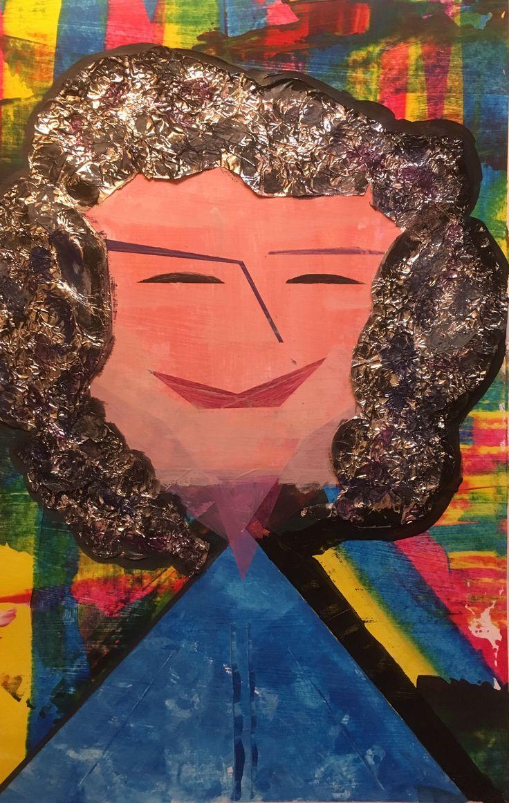 Plakken, wissen, alu folie en schilderen