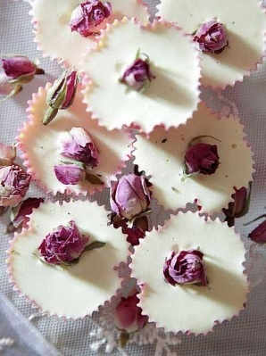 I like this approach to cupcake soap. Simple, elegant, and without a bunch of tacky frosting.