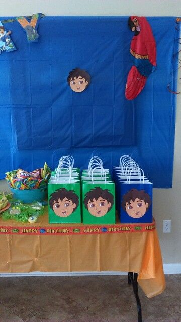 DIY Go Diego Go Party Bags