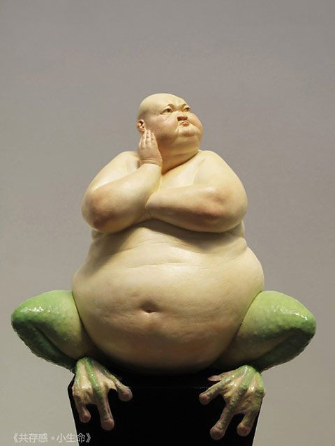 Chinese artist Liu Xue creates grotesque and intriguing sculptures of human/animal hybrids. These sculptures embody the antithesis of what society deems 'glamorous'. Posted by Rebekah Rhoden in New Art on Wednesday 1 August 2012 Anti-Glamour