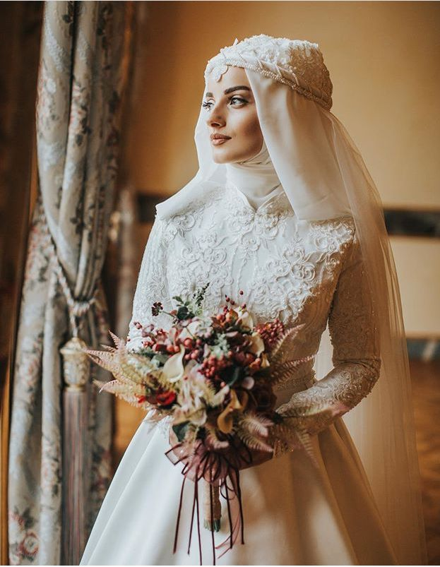 "Muslim designers make the best ""princess bride"" gowns! Imagine this with a crown, or a circlet, or a tiara... and a veil... ❤️"