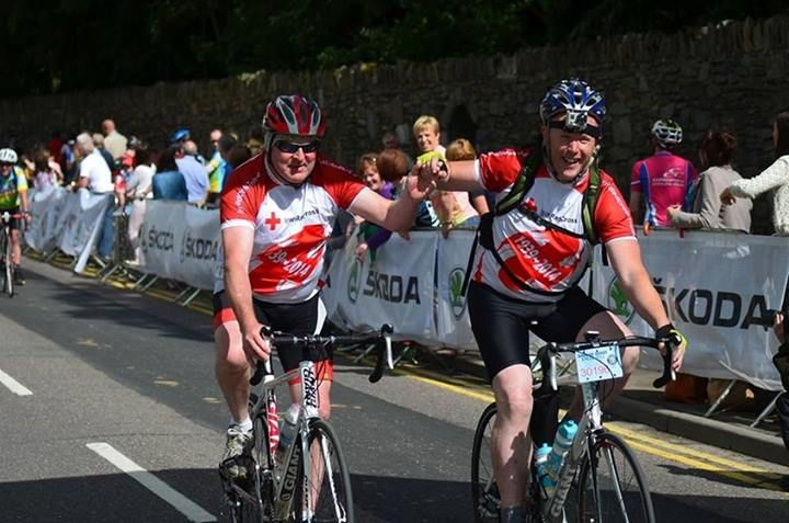 Volunteers took part and gave first aid cover at the the Ring of Kerry charity cycle 2014 www.redcross.ie