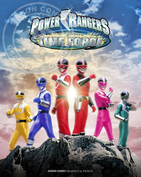 8 x 10 glossy print of the legendary Time Force Power Rangers, in honor of the 20th anniversary Power Rangers Super Megaforce, and the legendary war.