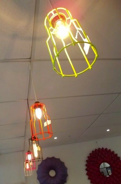 How cool are these cage lights?  #cagelights Shop Tour: My Eclectic Zone (MEZ) | Jafa Living