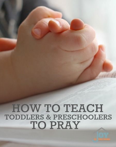 How to Teach Toddlers & Preschoolers to Pray - Tender hearts grow in faith so quickly. Don't miss this opportunity to teach them to pray. | www.joyinthehome.com
