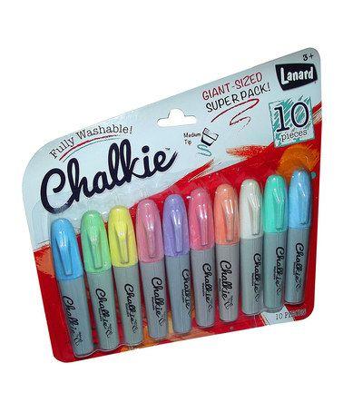 Look what I found on #zulily! Chalkie Marker Set #zulilyfinds