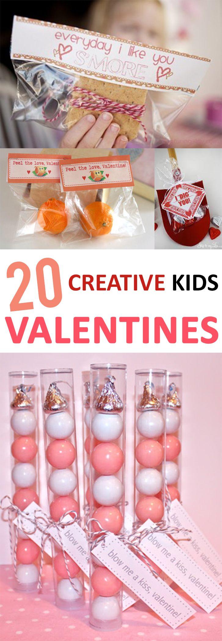 Unique ideas for your kid's Valentines.