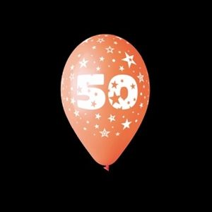 50 år ballon til fødselsdag, bryllupsdage og jubilæum. #balloner #fest #helium