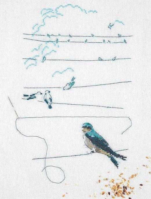 "Gallery.ru / ""Les oiseaux"" Helene le Berre - ""Les oiseaux"" - natalia-stella"