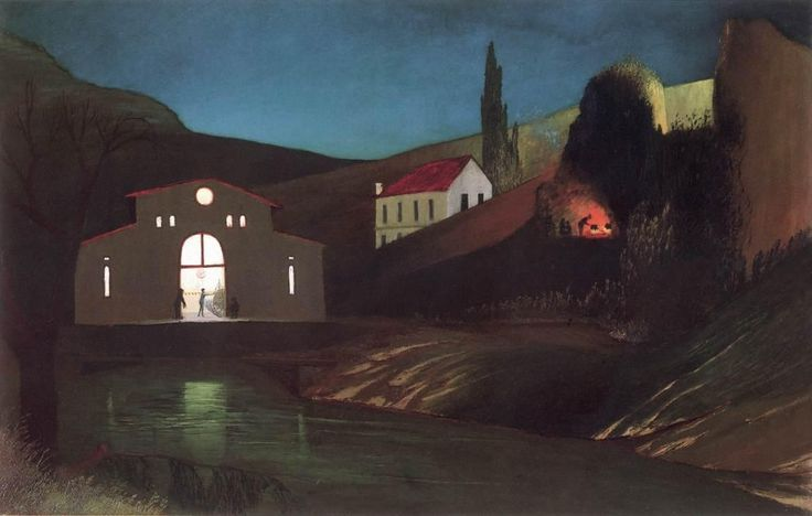 """Electric Station at Jajce at Night"" by Tivadar Kosztka Csontvary, 1903"