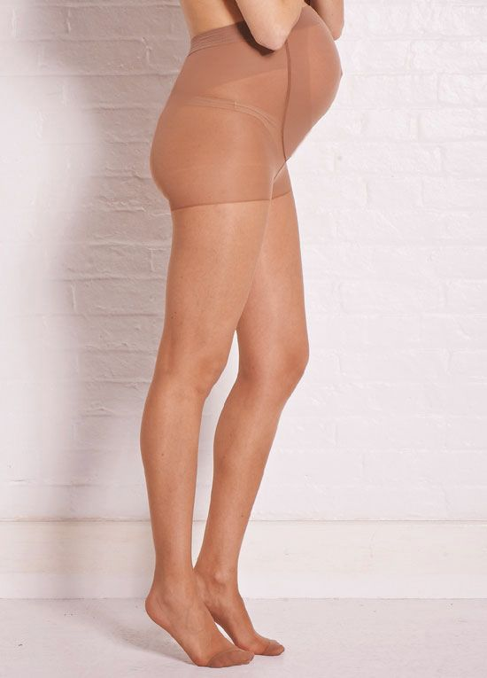 Queen Bee Baby Bump Sheer Nude Maternity Tights by Ambra