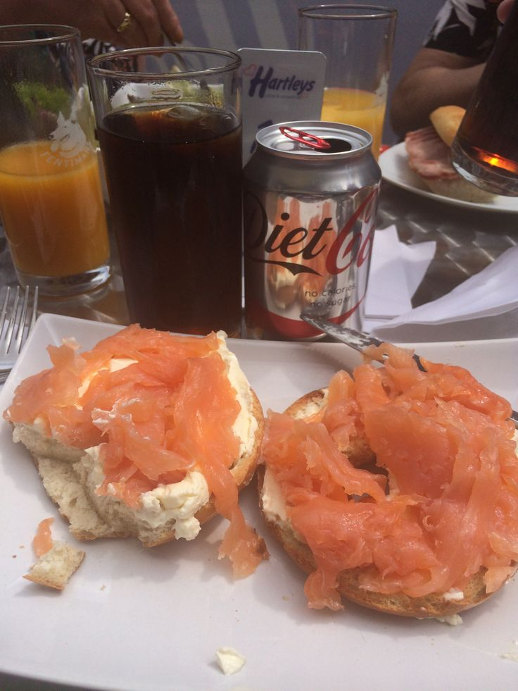 Smoked Salmon & Cream Cheese Bagel from Hartley's in Nottingham