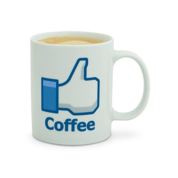 Facebookowy kubek wielbiciela kawy / Coffee lover facebook mug