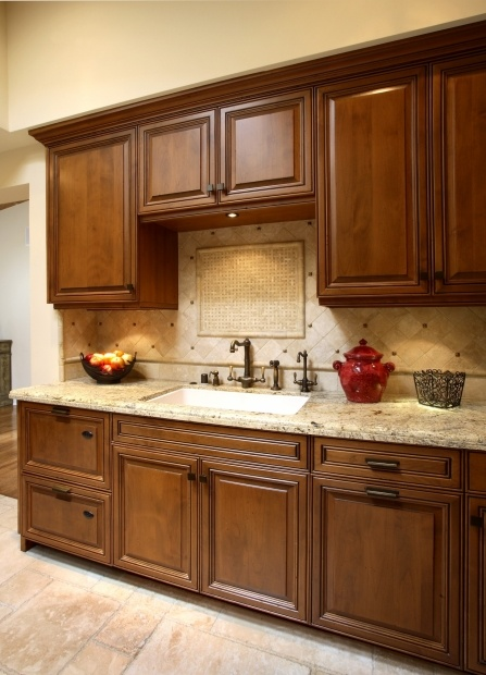 Transitional U Shaped Pale Yellow Kitchen Walnut Cabinets Arch Interiors Design Group