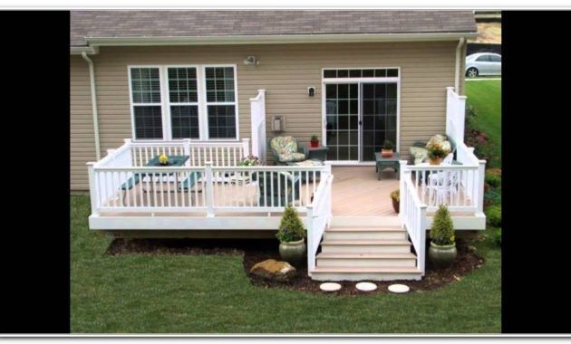 Small Deck Ideas For Mobile Homes Mobile Home Porch Mobile Home