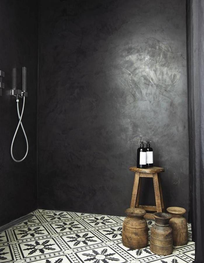Decorazioni in stile marocchino: impreziosisci il tadelakt nero