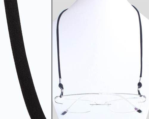 Sport stijl zwart #brillenkoord met drukknoopsluiting voor eenvoudige aanpassing aan uw hoofd. Geschikt voor vrijwel alle #brillen.