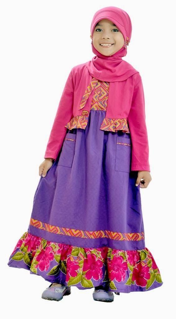 Baju Gamis Anak Perempuan Wrk107 Ungu T