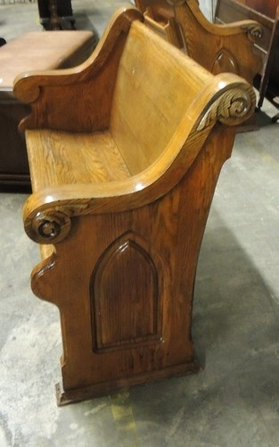 antique oak church bench pew great solid small size ebay - Church Pews For Sale