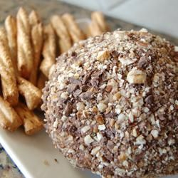 Chocolate Chip Cheese Ball - Serve with Gluten Free Dippers - Take to parties!