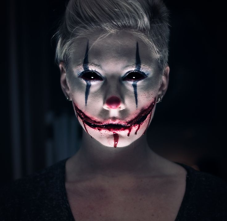 Scary clown makeup, Chelsea grin, Halloween special effects- Ally K Photography