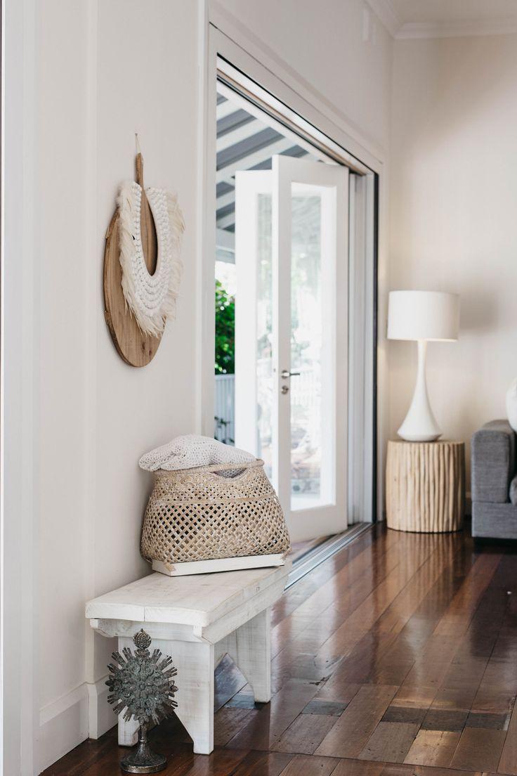 Wood floors, woven basket