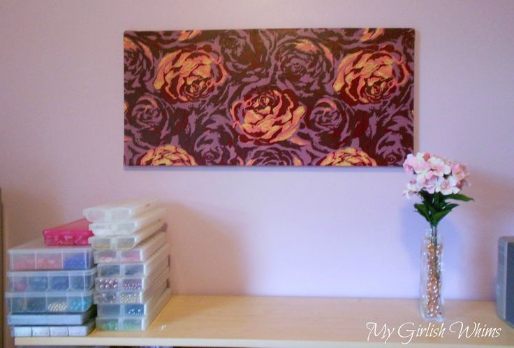 My Girlish Whims: Bead Organization Fabric Covered Magnet Board
