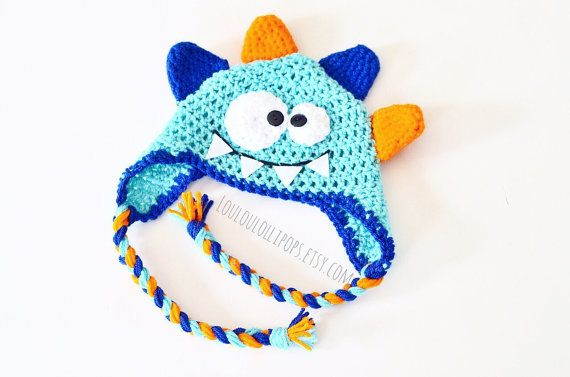 Crochet Monster Hat by LouLouLollipops on Etsy