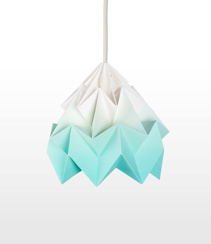 origami lamp shade Moth gradient mint by nellianna on Etsy https://www.etsy.com/uk/listing/151257771/origami-lamp-shade-moth-gradient-mint