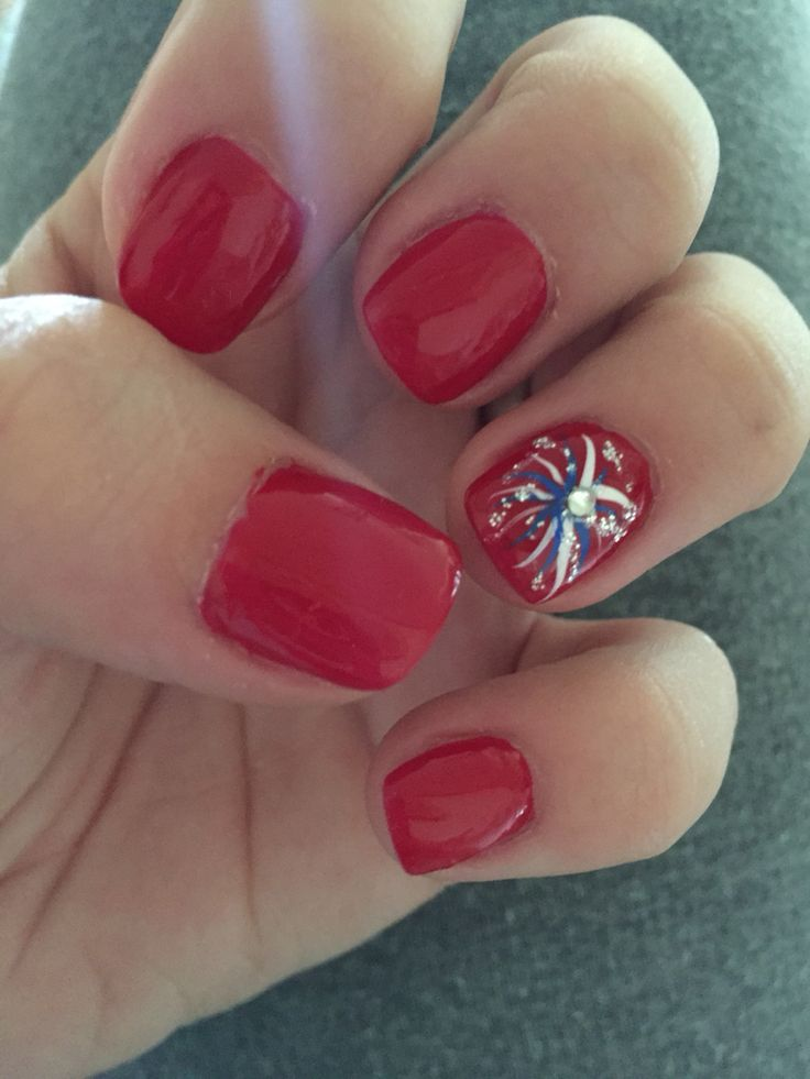 4th Of July Nails #fireworks