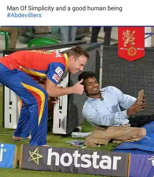 Ab de villiers is so humble thatswhy everyone likes him