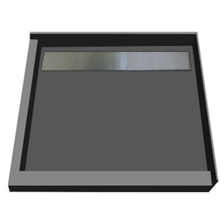 Double Threshold Shower Base With Back Drain