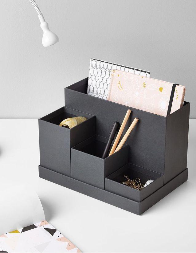 50 Objets Pour Un Bureau Au Top Elle Decoration Organiseur Bureau Organisation Bureau Idee Organisation Bureau