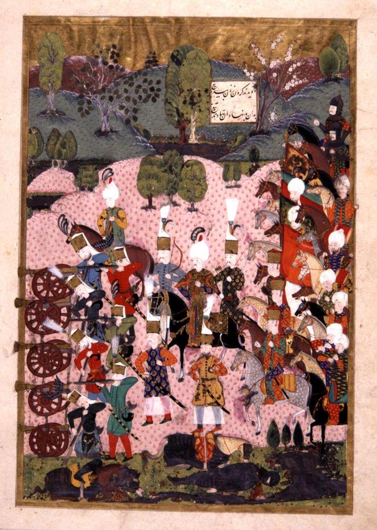 Süleymanname-Sultan Suleyman during the Battle of Mohacs-1526