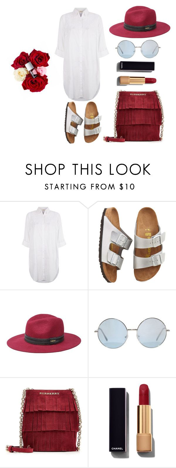"""""""BirkenStyle"""" by taniamandavela on Polyvore featuring Monsoon, Birkenstock, Bebe, Burberry, Chanel, women's clothing, women's fashion, women, female and woman"""