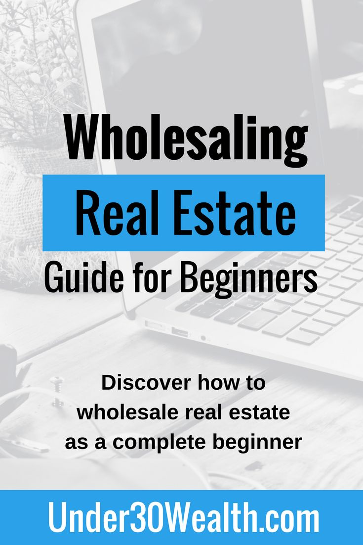 The complete beginner's guide to wholesaling real estate. Learn everything from setting goals, to finding properties to flip, to how the contract assignment works so you can collect a wholesaler fee. Get started by clicking the link to read this ultimate real estate investing guide for wholesalers.