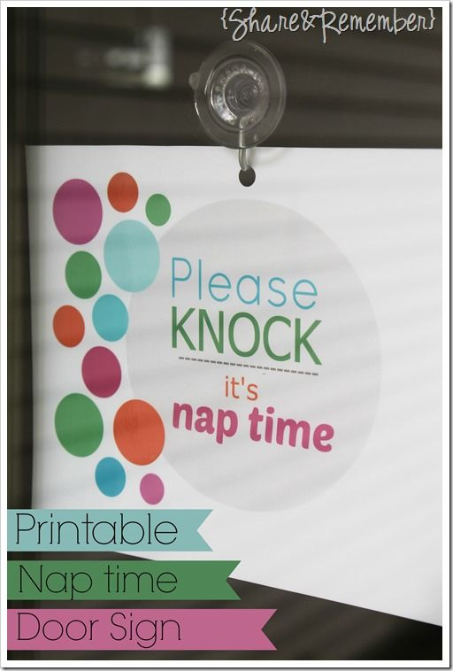 Please knock…it's nap time|Printable -